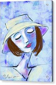 Dreamy Jeanne Acrylic Print by Elaine Lanoue