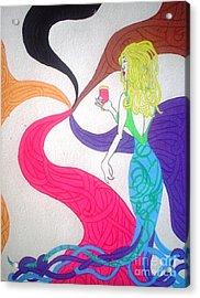 Dreamy Mermaid Acrylic Print