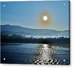 Dreamy Morning On The Ganges Acrylic Print