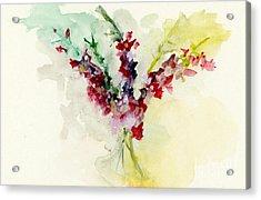 Dreamy Orchid Bouquet Acrylic Print