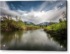 Acrylic Print featuring the photograph Dreamy River Of Golden Dreams by Pierre Leclerc Photography