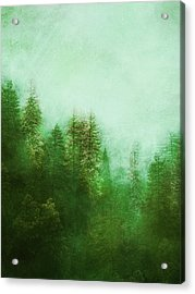 Acrylic Print featuring the digital art Dreamy Spring Forest by Klara Acel