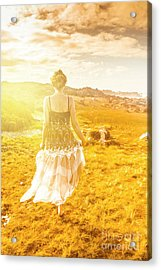 Dreamy Summer Fields Acrylic Print