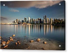 Acrylic Print featuring the photograph Dreamy Vancouver Cityscape by Pierre Leclerc Photography