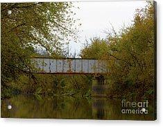 Dreary Bridge Dreary Day Acrylic Print by Alan Look