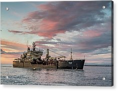 Dredging Ship Acrylic Print by Greg Nyquist