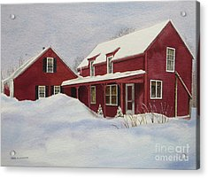 Dresden Farmhouse Acrylic Print