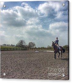 Dressage #horses #horse #horseriding Acrylic Print