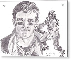 Drew Brees Acrylic Print by Chris  DelVecchio