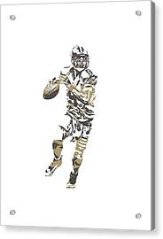 Drew Brees New Orleans Saints Pixel Art T Shirt 1 Acrylic Print