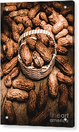 Dried Whole Peanuts In Their Seedpods Acrylic Print by Jorgo Photography - Wall Art Gallery