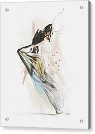 Drift Contemporary Dance Acrylic Print by Galen Valle