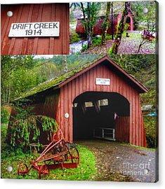 Drift Creek Covered Bridge Acrylic Print by Susan Garren