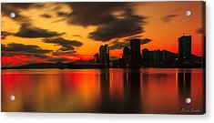 Drift Pass Port Of Spain  Acrylic Print by Marcus Gonzales