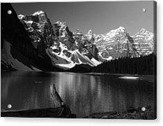 Drift Wod On Lake Moraine Acrylic Print