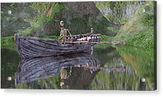 Drifter On The Lake Acrylic Print