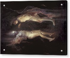 Drifting Acrylic Print by Odd Nerdrum