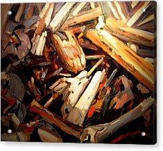 Driftwood Acrylic Print by Brian Simons