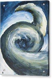 Acrylic Print featuring the painting Driftwood by Yulia Kazansky