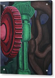 Acrylic Print featuring the painting Drill Press by Paul Amaranto