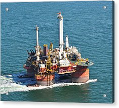 Drilling Rig Acrylic Print by Bill Perry