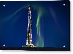 Drilling Rig Saskatchewan Acrylic Print by Mark Duffy