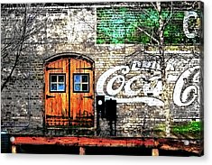 Acrylic Print featuring the photograph Drink Coca Cola  by Gray  Artus