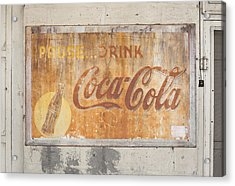 Acrylic Print featuring the photograph Drink Coca Cola by Mark Greenberg