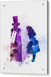 Drink Me Acrylic Print by Rebecca Jenkins