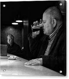 Drinking Señor (and Staring Acrylic Print