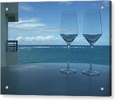 Drinks On The Terrace Acrylic Print