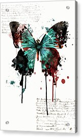 Dripping Butterfly Acrylic Print