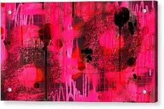 Dripping Pink Acrylic Print