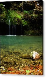 Dripping Springs Acrylic Print by Lana Trussell