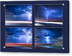Drive By Lightning Strikes Progression Acrylic Print