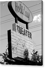 Drive-in Acrylic Print by Audrey Venute