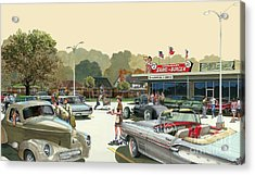 Drive In Days Acrylic Print by Michael Swanson
