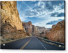 Drive Into Capitol Reef National Park Acrylic Print by Michael J Bauer