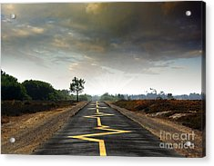 Drive Safely Acrylic Print by Carlos Caetano