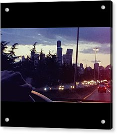 Drive Thru Seattle #enlight #highway Acrylic Print