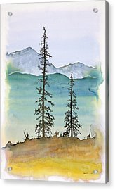 Drive To Eagle And Sketching On A Bumpy Road Acrylic Print by Carolyn Doe