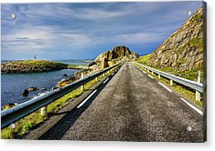 Acrylic Print featuring the photograph Driving Along The Norwegian Sea by Dmytro Korol