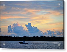 Driving Into Sunset Acrylic Print by Rose  Hill