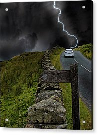 Driving Into The Storm Acrylic Print by Martin Newman