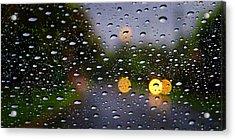 Driving Rain Acrylic Print