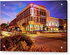 Driving Through Downtown - Bentonville Arkansas Town Square Acrylic Print
