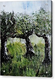 Acrylic Print featuring the painting Drizzle by Evelina Popilian