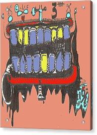 Drool Acrylic Print by Robert Wolverton Jr