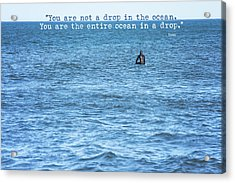 Drop In The Ocean Surfer  Acrylic Print by Terry DeLuco