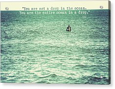 Drop In The Ocean Surfer Vintage Acrylic Print by Terry DeLuco